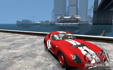 Shelby Cobra Daytona Coupe 1965 pour GTA 4 Vue arrière