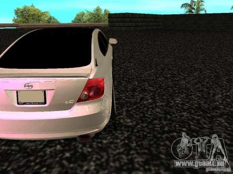 Toyota Scion für GTA San Andreas zurück linke Ansicht