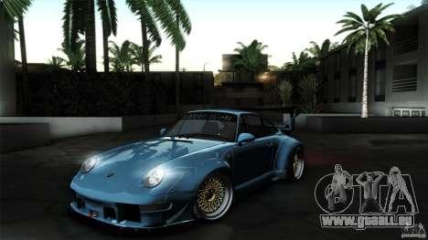 Porsche 993 RWB für GTA San Andreas zurück linke Ansicht