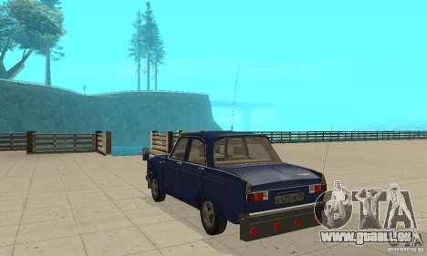 Moskvich 412 mit tuning für GTA San Andreas zurück linke Ansicht