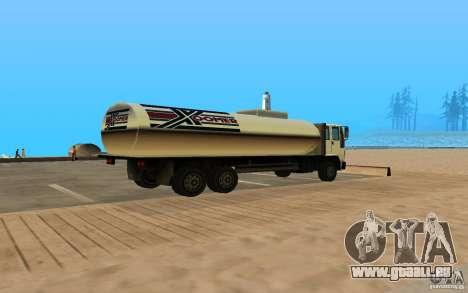 DFT-30 c réservoir pour GTA San Andreas sur la vue arrière gauche