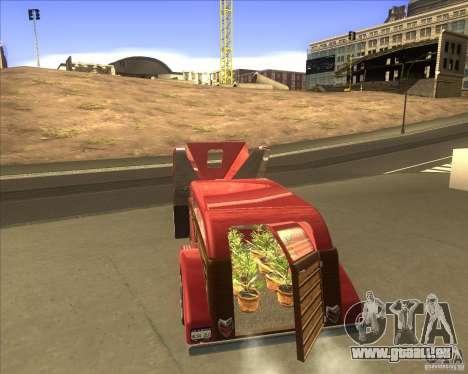 Custom Woody Hot Rod pour GTA San Andreas sur la vue arrière gauche