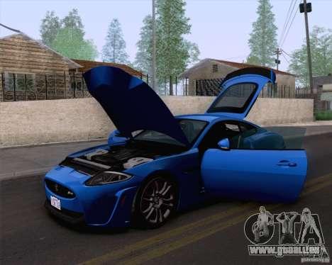 Jaguar XKR-S 2012 pour GTA San Andreas sur la vue arrière gauche