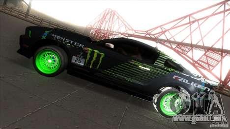 Ford Shelby GT500 Falken Tire pour GTA San Andreas laissé vue