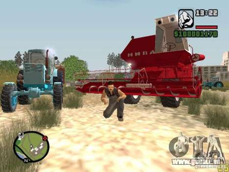 SK-5 Niva Mähdrescher für GTA San Andreas linke Ansicht