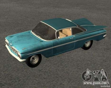 Chevrolet Impala Coupe 1959 Used pour GTA San Andreas vue de droite