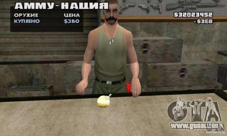 The Holy Grenade pour GTA San Andreas deuxième écran