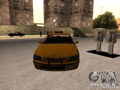 Taxi de GTA IV pour GTA San Andreas vue de droite