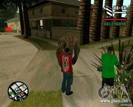 Réservoir de la Left 4 Dead. pour GTA San Andreas troisième écran