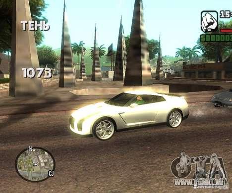 Disques n'importe où pour GTA San Andreas deuxième écran
