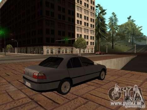 Opel Omega B 1998 v2 pour GTA San Andreas vue de droite