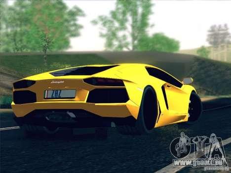 Lamborghini Aventador LP700-4 2011 V1.0 pour GTA San Andreas vue de dessus