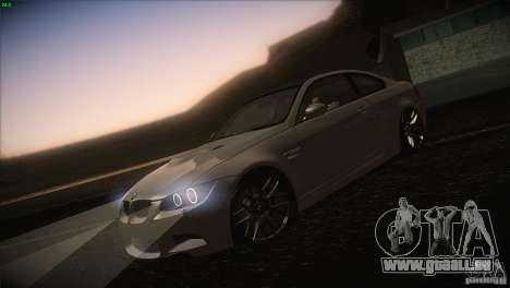 BMW M3 E92 für GTA San Andreas Unteransicht