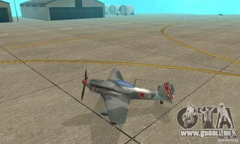 L'yak-9 en livrée, Sébastopol pour GTA San Andreas laissé vue