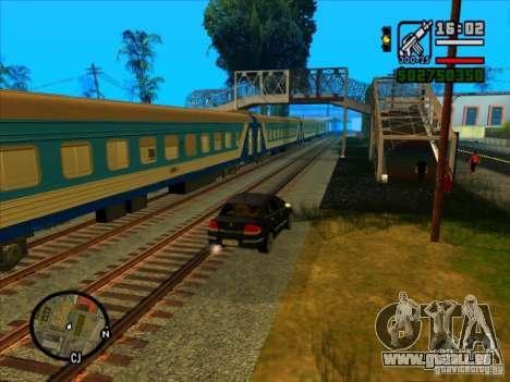 Long train pour GTA San Andreas deuxième écran