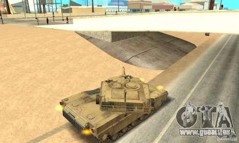 Char M1A2 Abrams pour GTA San Andreas vue de droite