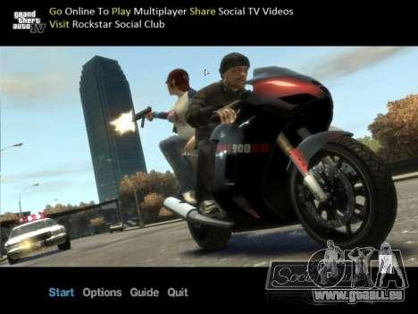 Nouvel écran en mode hors connexion pour GTA 4