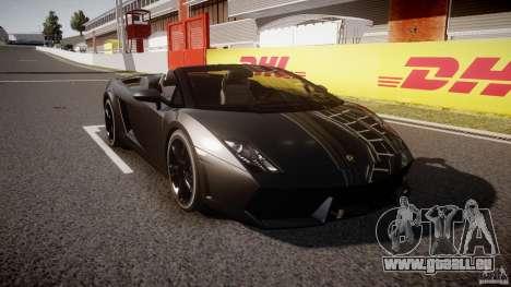 Lamborghini Gallardo LP560-4 Spyder 2009 pour GTA 4 Vue arrière