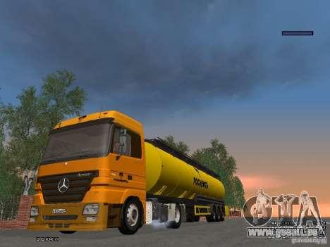 Mercedes-Benz Actros Rosneft für GTA San Andreas Innenansicht