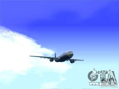 Airbus A330-300 US Airways für GTA San Andreas zurück linke Ansicht