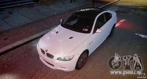 BMW M3 E92 2008 v.2.0 pour GTA 4 vue de dessus