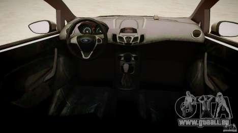 Ford Fiesta 2012 für GTA 4 Innenansicht