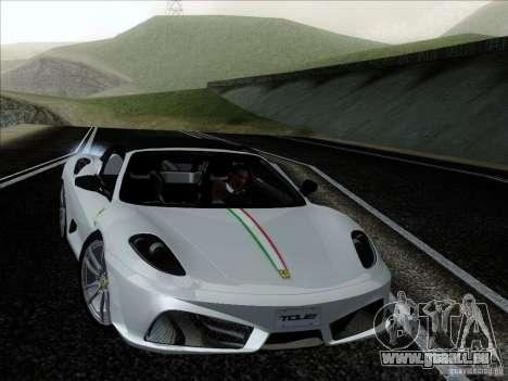 Ferrari F430 Scuderia Spider 16M für GTA San Andreas Innenansicht