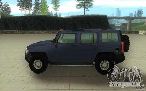 Hummer H3 für GTA San Andreas Innenansicht