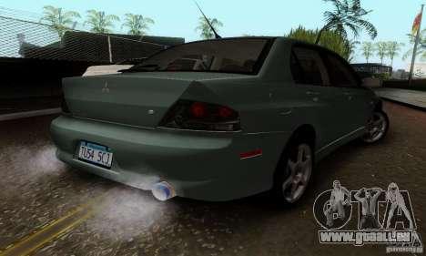 Mitsubishi Lancer Evolution 8 Tuneable pour GTA San Andreas sur la vue arrière gauche