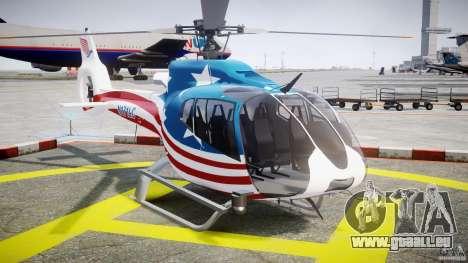 Eurocopter EC 130 B4 USA Theme pour GTA 4 Vue arrière