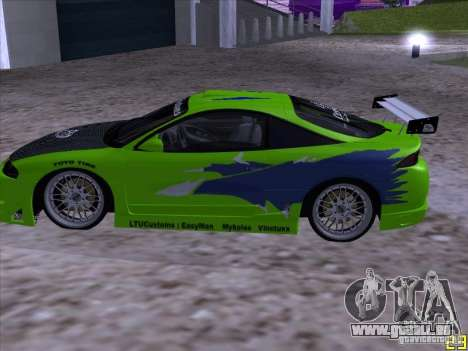 Mitsubishi Eclipse 1998 - FnF für GTA San Andreas linke Ansicht