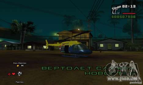 Helitours Maverick von GTA 4 für GTA San Andreas
