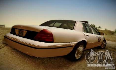 Ford Crown Victoria Missouri Police pour GTA San Andreas laissé vue