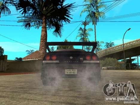 Nissan Skyline R33 Tokyo Drift pour GTA San Andreas sur la vue arrière gauche