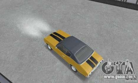 Chevrolet Chevelle SS 1972 pour GTA San Andreas sur la vue arrière gauche
