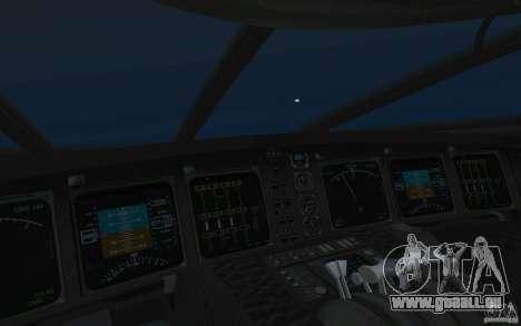 Boeing 797 BWB für GTA San Andreas zurück linke Ansicht