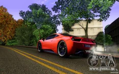 Ferrari 458 Italia Final für GTA San Andreas Räder