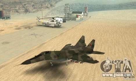 MIG-29 pour GTA San Andreas vue de droite