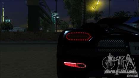Koenigsegg Agera 2010 pour GTA San Andreas vue de côté
