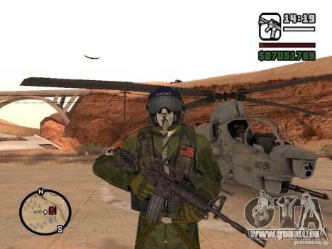 US Air Force pour GTA San Andreas troisième écran