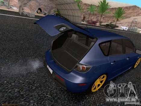Mazda Speed 3 pour GTA San Andreas vue intérieure
