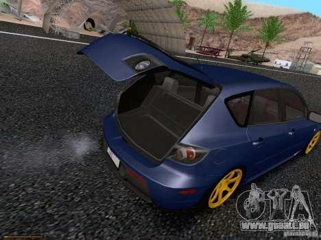 Mazda Speed 3 für GTA San Andreas Innenansicht