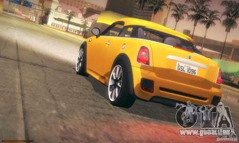 Mini Concept Coupe 2010 pour GTA San Andreas vue de dessus