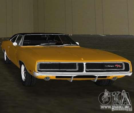 Dodge Charger RT 1969 pour une vue GTA Vice City de la droite
