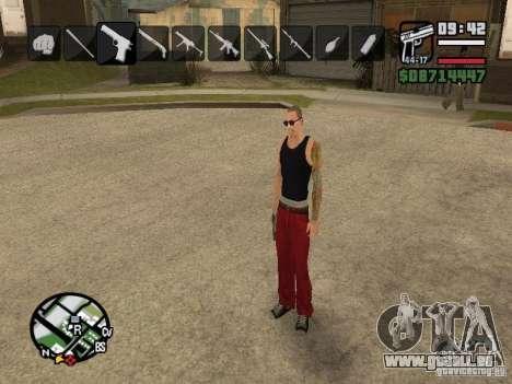 Symbole beim Ändern von Waffen für GTA San Andreas her Screenshot