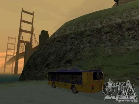 Trolleybus LAZ e-183 für GTA San Andreas Rückansicht