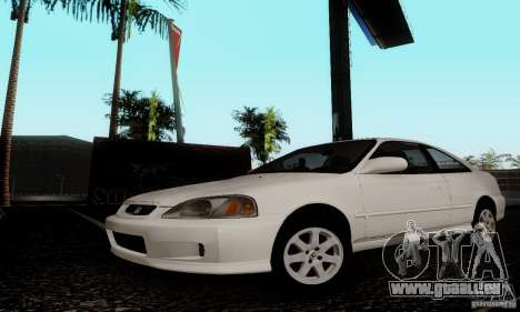 Honda Civic 1999 Si Coupe pour GTA San Andreas sur la vue arrière gauche