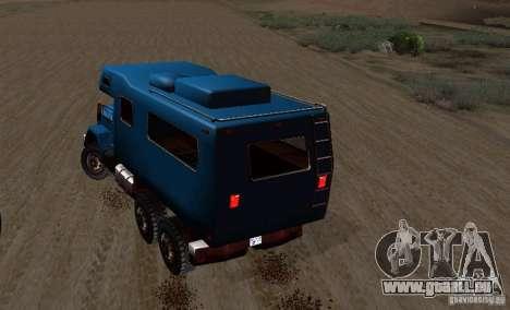 Journey 6x6 Enterable V1 pour GTA San Andreas vue arrière