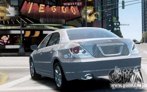 Acura RL 2006 für GTA 4 rechte Ansicht