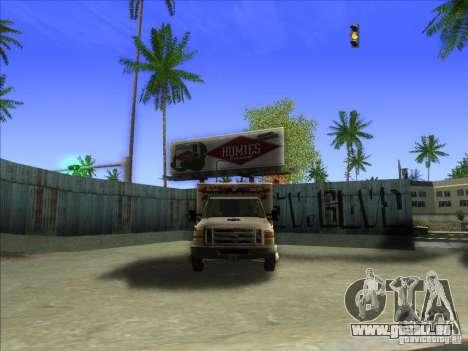Ford E-350 Ambulance pour GTA San Andreas vue intérieure